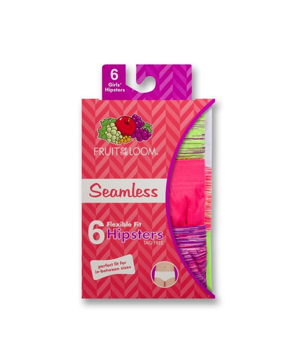 Girls' Seamless Hipsters, 6 Pack