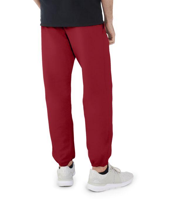 Men's EverSoft Fleece Elastic Bottom Sweatpants, 1 Pack Brilliant Red