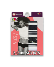 Young Women's Assorted Girl Shorts, 3 Pack ASSORTED