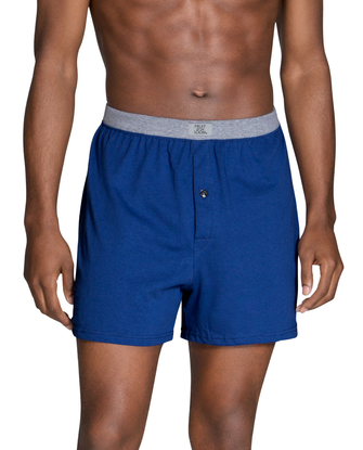 Men's Assorted Knit Boxers, 5 Pack