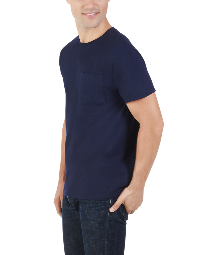 Men's Dual Defense UPF Short Sleeve Pocket T-Shirt J Navy