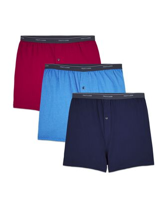 Big Men's Cotton Knit Boxers, 3 Pack