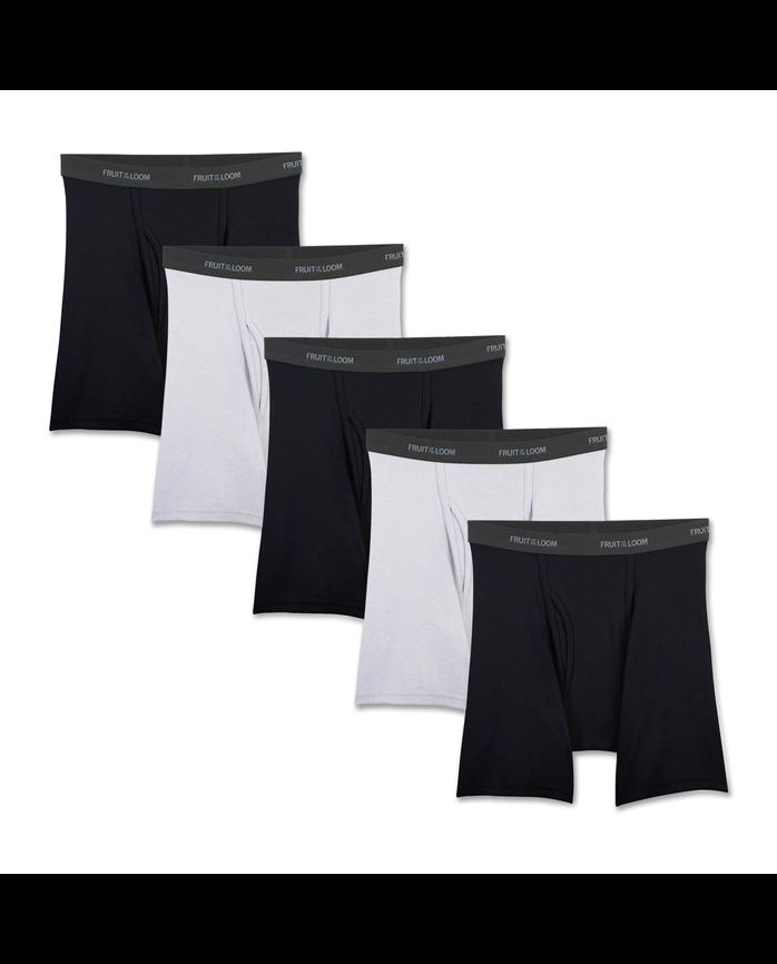 Men's Beyondsoft Black/Gray Boxer Briefs, 5 Pack
