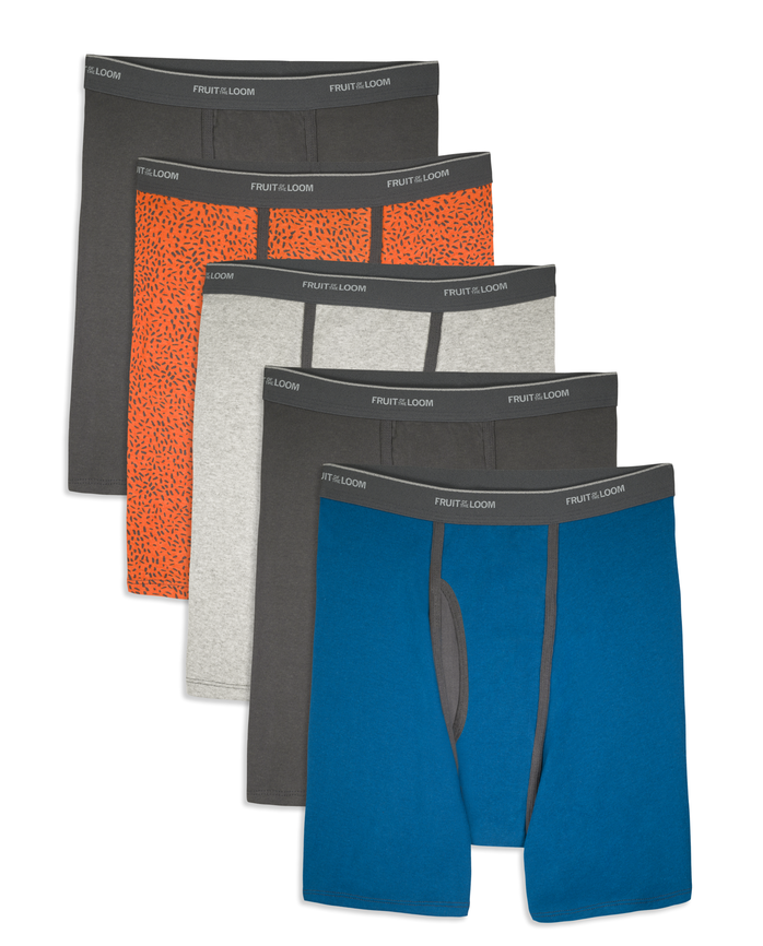 Men's COOLZONE Ringer Boxer Briefs, 5 Pack