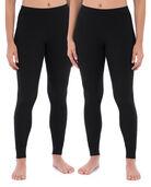 Women's Thermal Bottom, 2 Pack Black