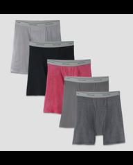 Men's 5 Pack Stripe/Solid Boxer Briefs Stripe/Solid