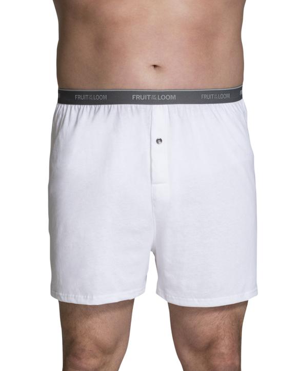 Big Men's Cotton Knit Boxers, 3 Pack Assorted