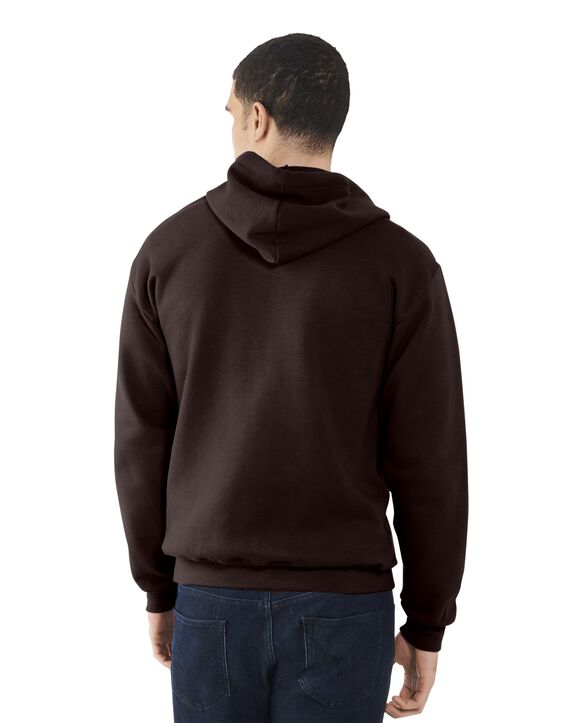 Men's EverSoft Fleece Full Zip Hoodie Jacket, Extended Sizes, 1 Pack Deep Chianti