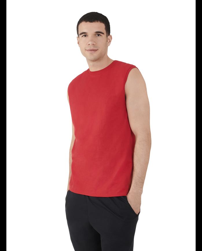 Men's Dual Defense® UPF Muscle Shirt, 1 Pack True Red