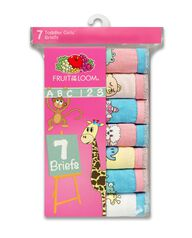 Toddler Girls' 7 Pack Theme Pack Brief Assorted