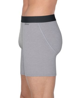 Men's Crafted Comfort  Black Heather Boxer Brief, 3 Pack