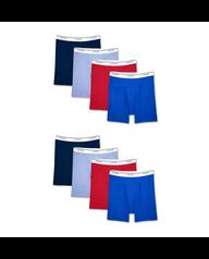 Men's Assorted Active Cotton Blend Boxer Briefs, 8 Pack