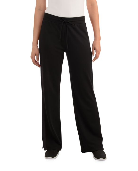 Women's Seek No Further Mid-Rise Track Pants Brilliant Black