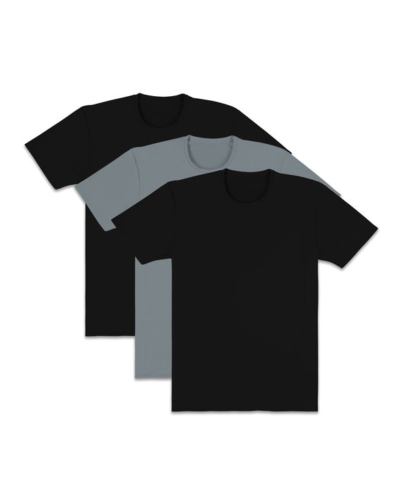 Men's EverLight Go Active Black/Gray Crew Neck T-Shirts, 3 Pack