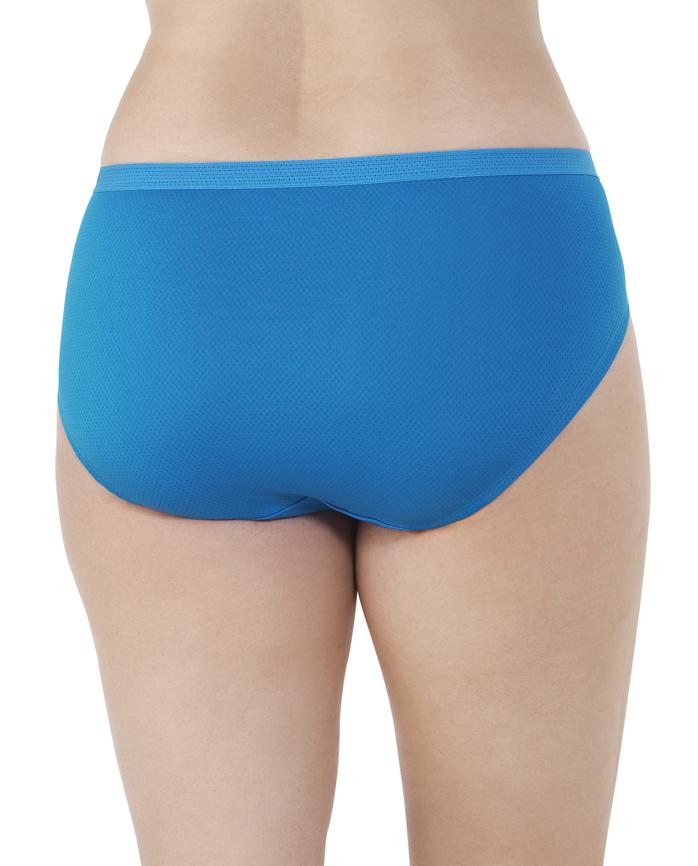 Women's Plus Fit for Me Breathable Micro-Mesh Brief Panty, 6 Pack ASSORTED