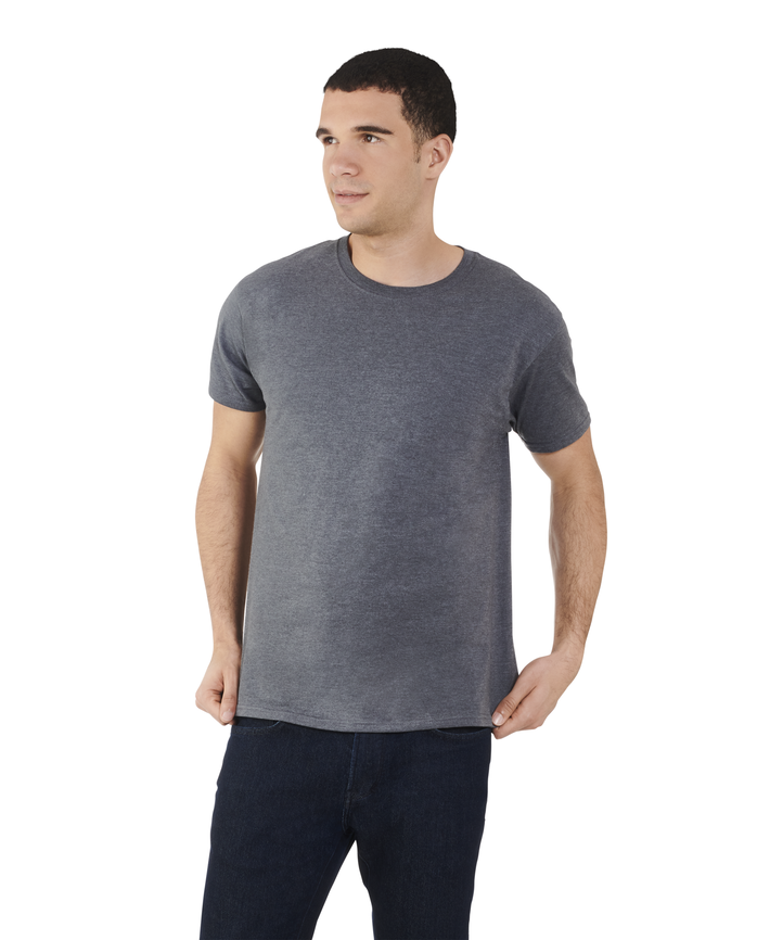 Men's Dual Defense® Crew Neck T-Shirt, 1 Pack, Extended Sizes Charcoal Heather