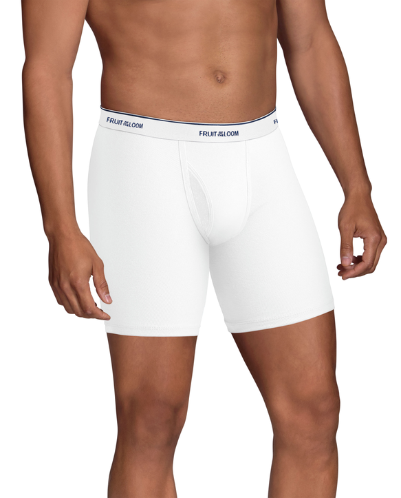 Men's CoolZone Fly White Boxer Briefs, 5 Pack WHITE