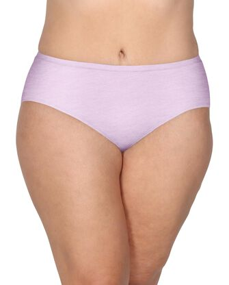 Women's Plus size Fit for Me 360 Cotton Stretch Assorted Brief Underwear,6 Pack