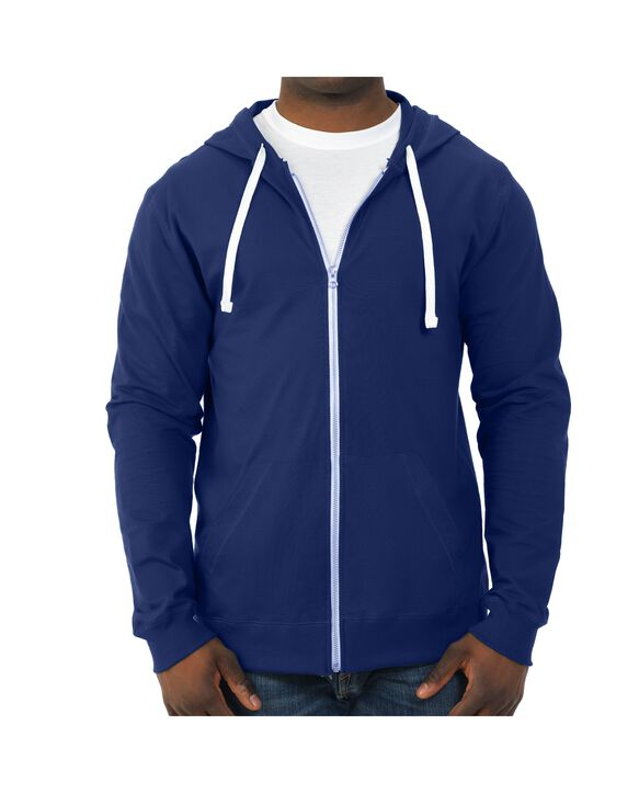 Soft Jersey Full Zip Hooded Jacket, 1 Pack Admiral Blue