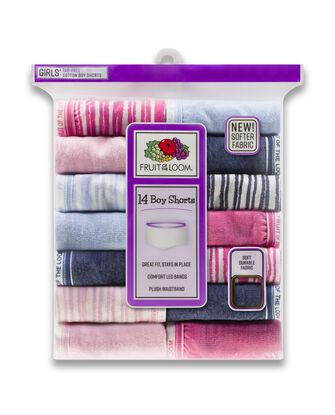 Girls' Assorted Heather Boy Short, 14 Pack