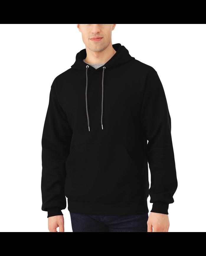 Men's EverSoft Fleece Pullover Hoodie Sweatshirt Black