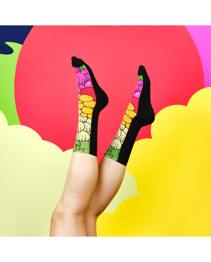 Fruit of the Loom Limited Edition Fruit Fashion 360 Printed Crew Socks