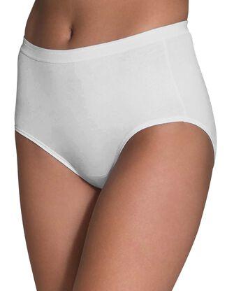 Women's White Cotton Brief, 10 Pack
