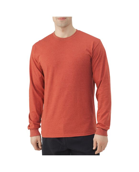 Men's EverSoft Long Sleeve T-Shirt, 1 Pack Red Heather