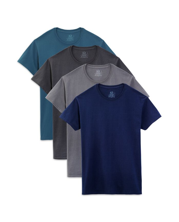 Men's Assorted Color Crew Neck T-Shirts, 4 Pack