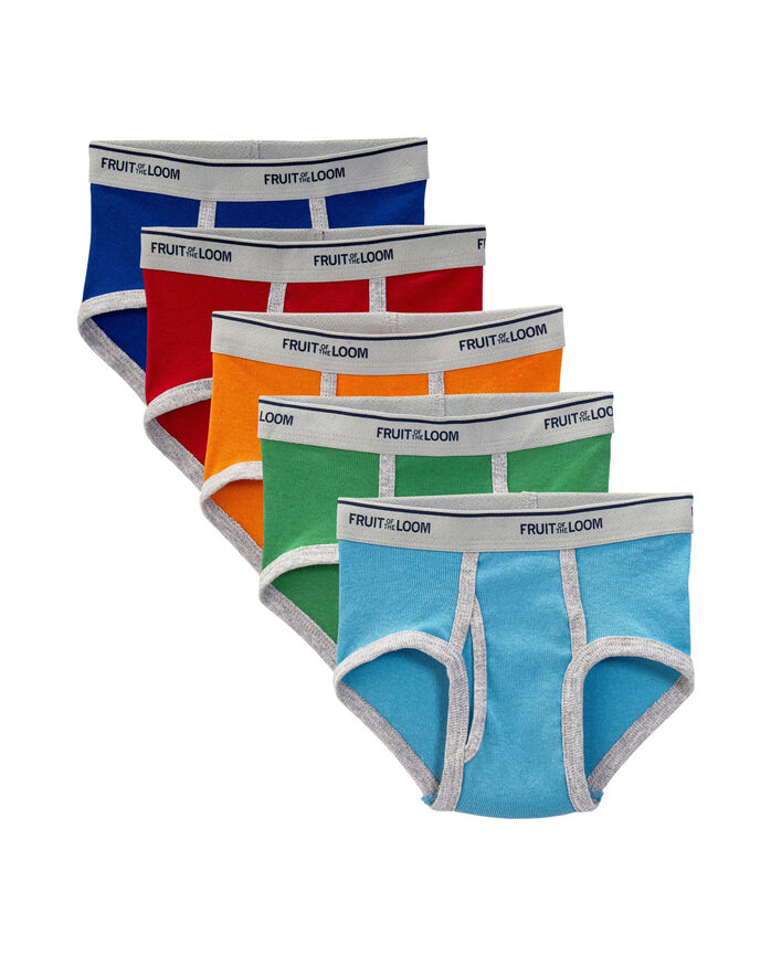 Toddler Boys' Assorted Fashion Brief, 5 Pack