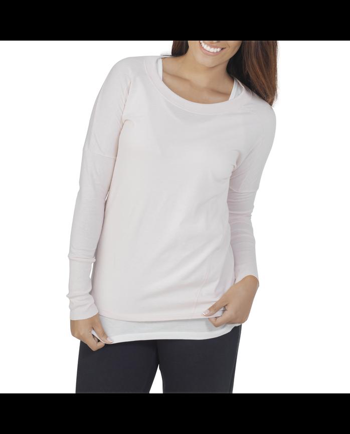 Women's Essentials Long Sleeve Scoop Neck T-Shirt, 1 Pack Cashmere Heather