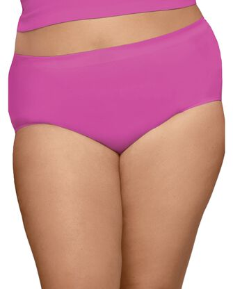 Women's Plus Size Fit for Me® by Fruit of the Loom® 360 Cotton Stretch Assorted Brief Panty,6 Pack