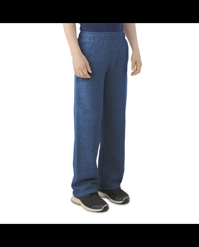 Boys Fleece Open Bottom Sweatpants Smoke Blue