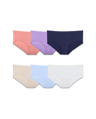 Fit for Me by Fruit of the Loom 6 Pack Breathable Micro-Mesh Hipsters