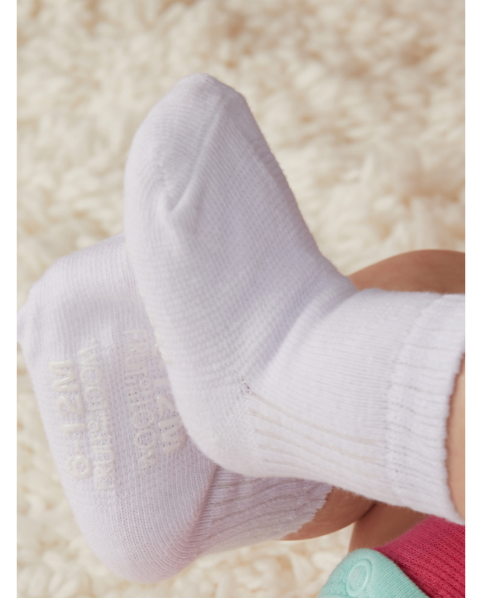 Baby Girls' Grow & Fit Socks, 14 Pack Pink Multi