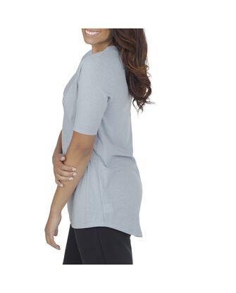 Women's Essentials Elbow Length V-Neck T-Shirt, 1 Pack