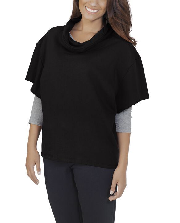 Women's Essentials Cowl Neck Pullover, 1 Pack Black