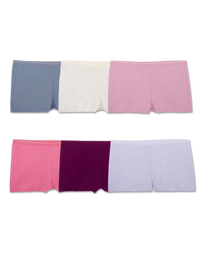 Women's Cotton Shortie, 6 Pack