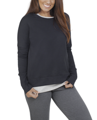Women's Essentials Long Sleeve French Terry Top, 1 Pack Black