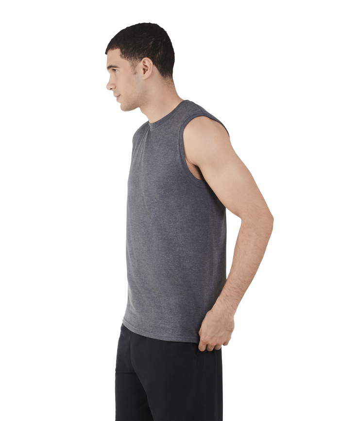Big Men's Dual Defense UPF Sleeveless Muscle Shirt