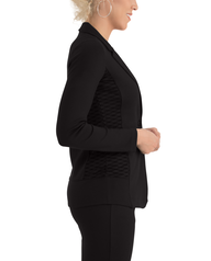 Women's Seek No Further Long Sleeve Open Front Fitted Blazer Brilliant Black