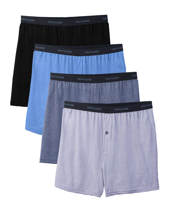 Men's Beyondsoft Knit Boxers, 4 Pack, Size 2XL
