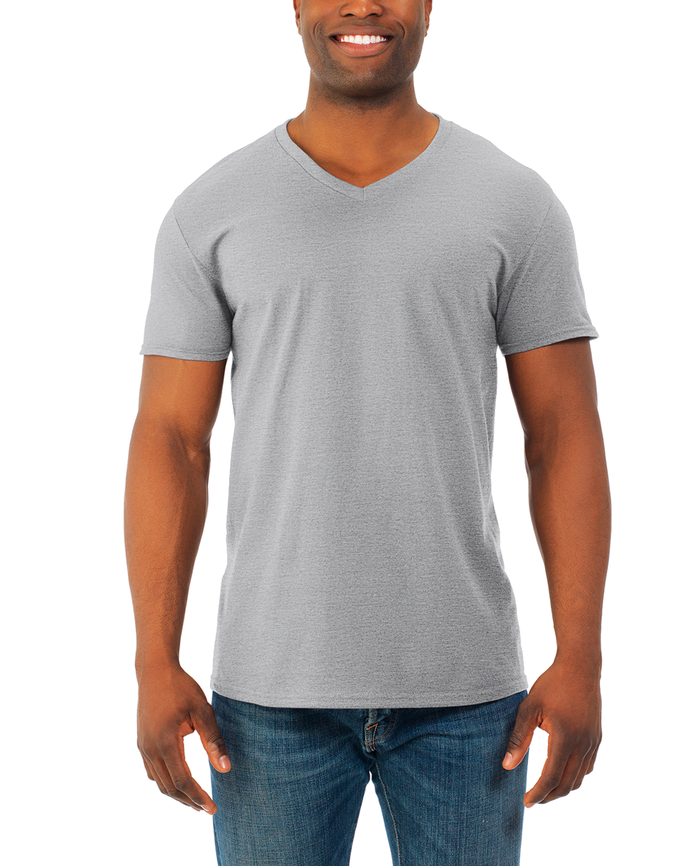 Men's Soft Short Sleeve V-Neck T-Shirt, 2 Pack, Extended Sizes