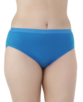 Women's Plus Fit for Me Breathable Micro-Mesh Brief Panty, 6 Pack