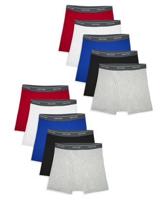 Boys' Assorted Cotton Boxer Briefs, 10 Pack