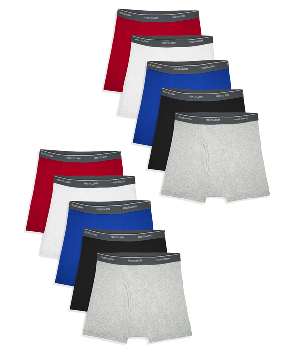 Boys' Assorted Cotton Boxer Briefs, 10 Pack