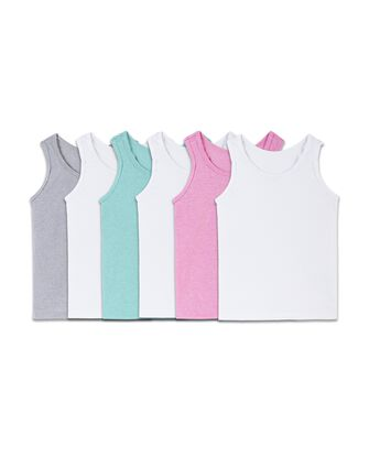 Fruit of the Loom Toddler Girls' Assorted Tank, 6 Pack