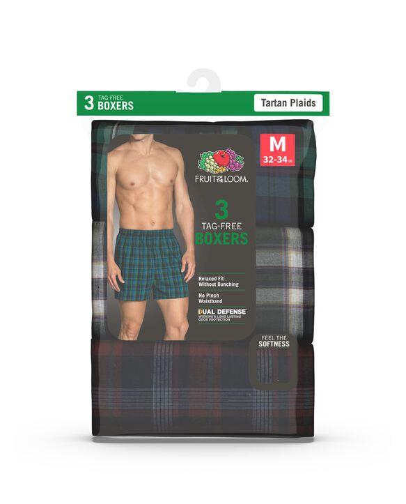 Men's Tartan Boxer, 3 Pack Assorted