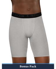 Men's Breathable Lightweight Micro-Mesh Long Leg Boxer Briefs, Super Value 6 Pack ASSORTED