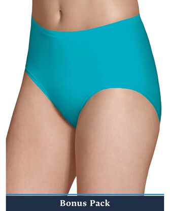 Women's Assorted Breathable Micro-Mesh Low Rise Brief Panty, 8 Pack